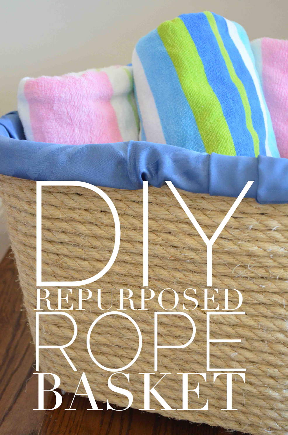 DIY Repurposed Rope Basket
