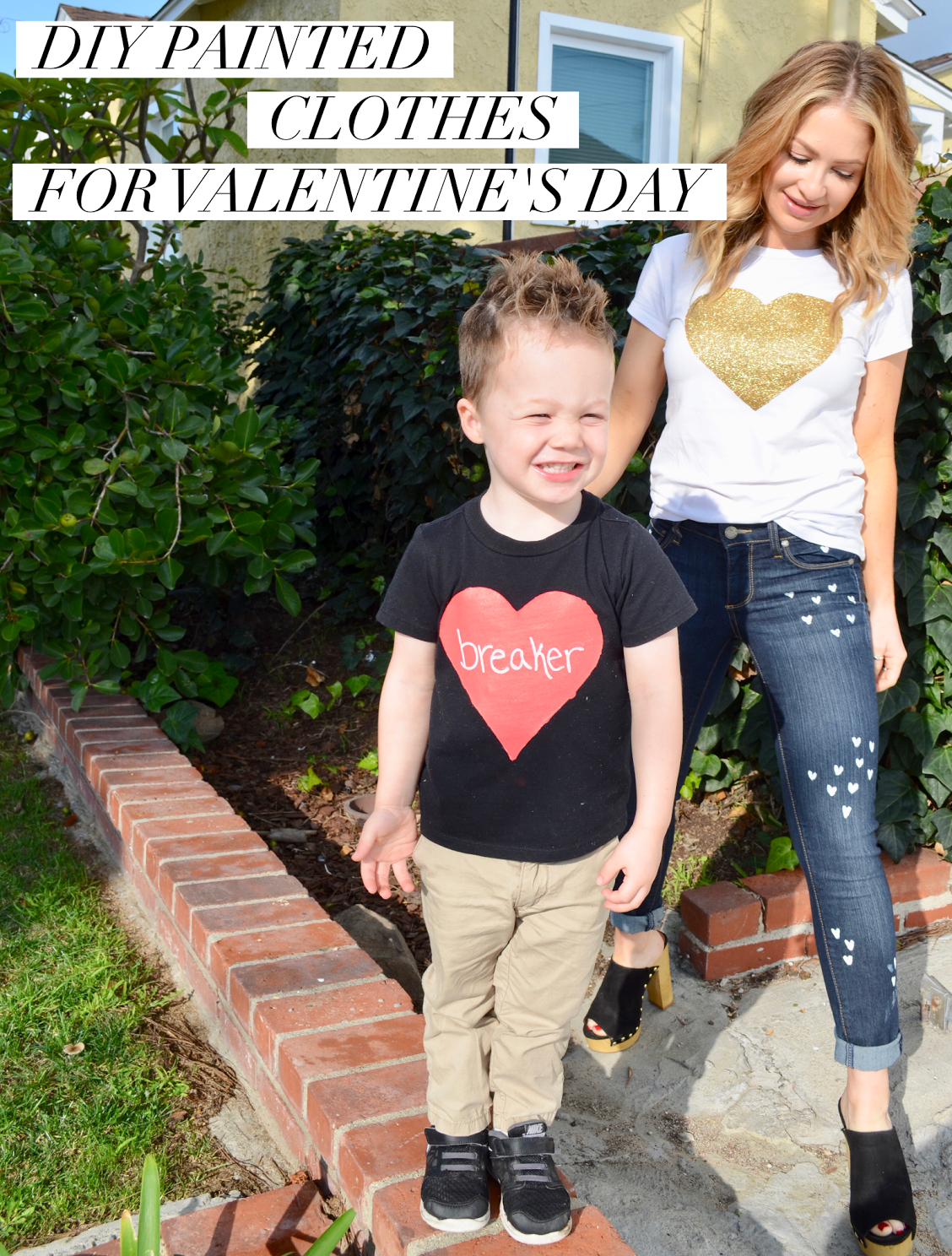 DIY Painted Clothes for Valentine's Day