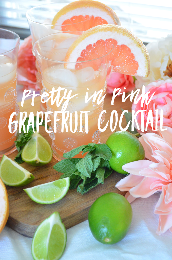 Pretty in Pink Grapefruit Cocktail