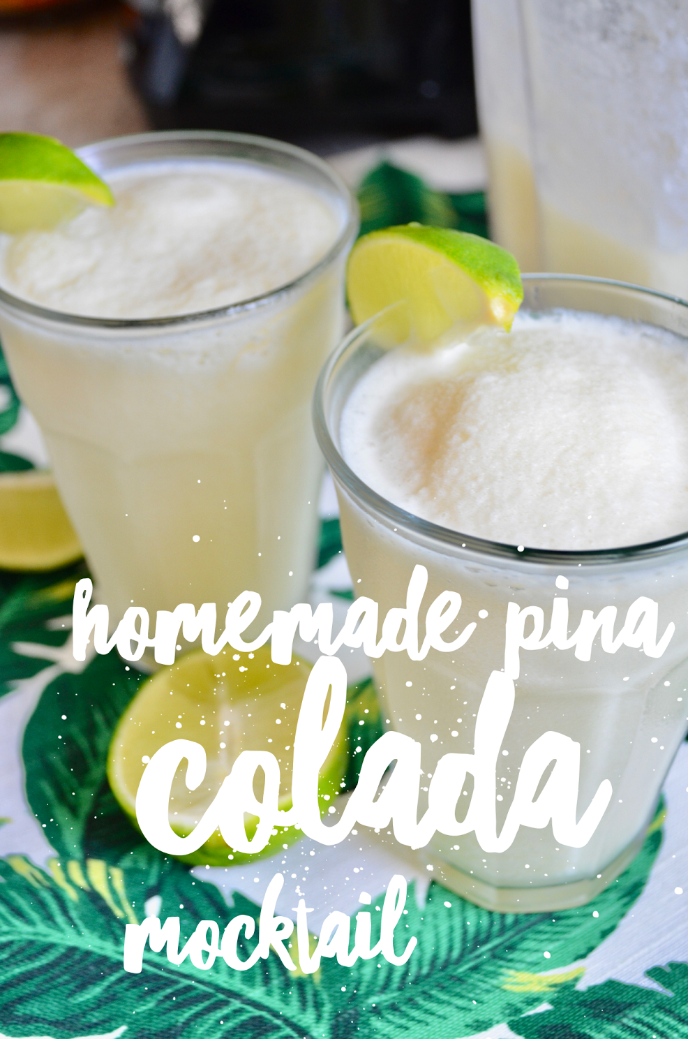 Homemade Pina Colada Mocktail