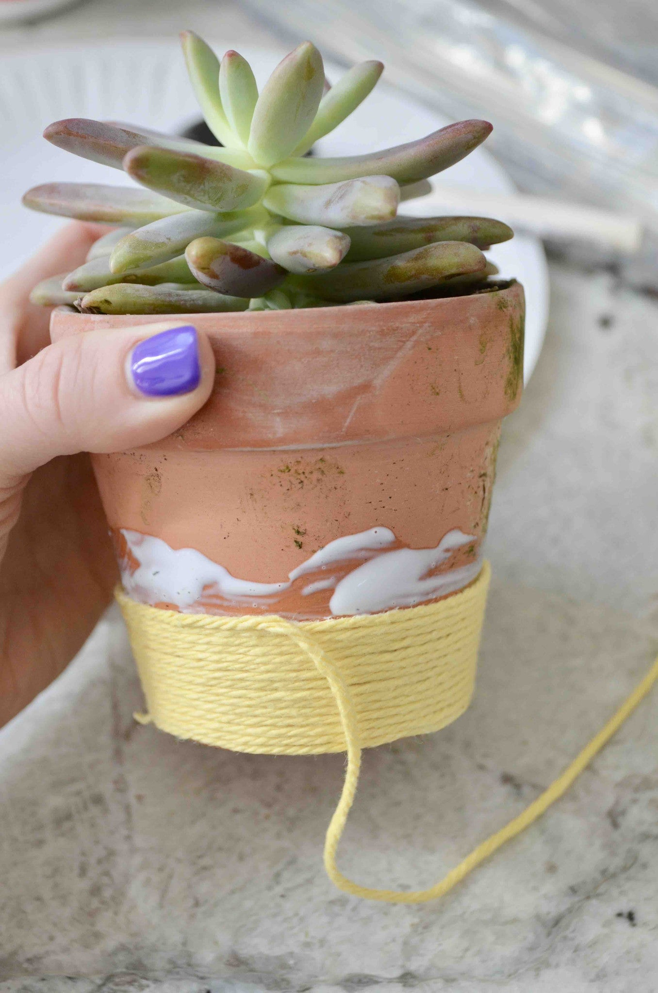 DIY Repurposing With Yarn