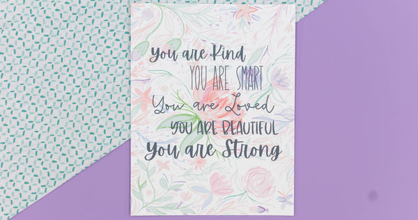 You Are Smart Happy Art Print - Digital Download - Craft Box Girls