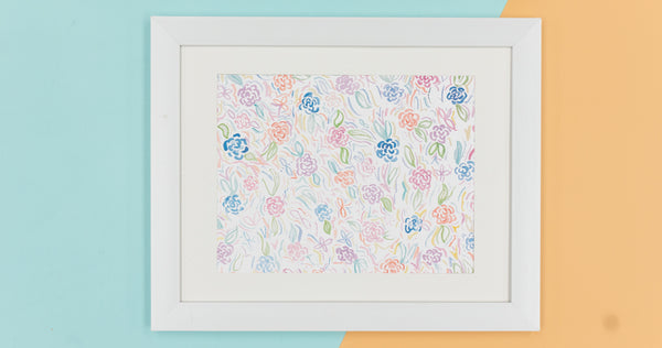 Multi Color Roses Watercolor Art Print - Digital Download - Craft Box Girls