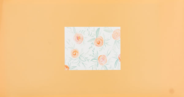 Peach Floral Watercolor Art Print - Digital Download - Craft Box Girls