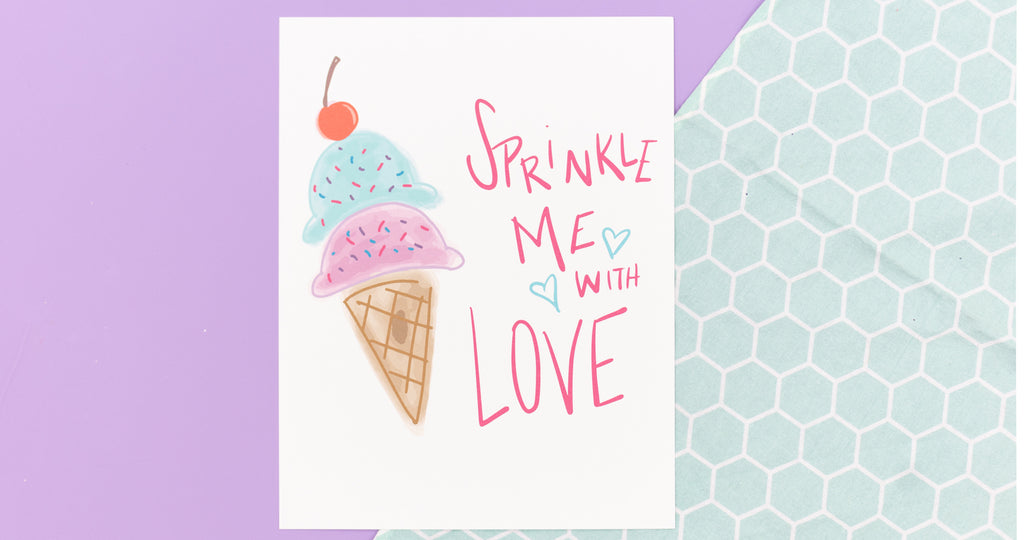 Sprinkle Me with Love Happy Art Print - Digital Download - Craft Box Girls