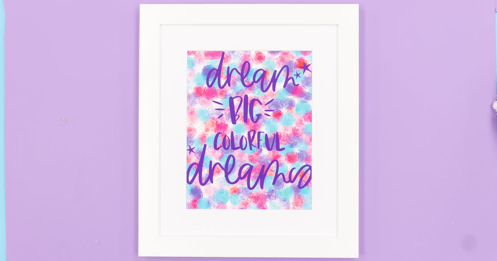 Dream In Color Happy Art Print - Digital Download - Craft Box Girls