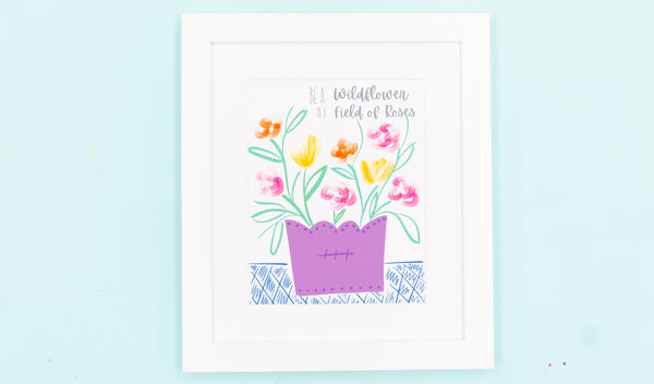 Be a Wild Flower Happy Art Print - Digital Download - Craft Box Girls