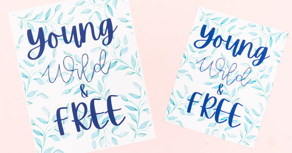 Young Wild & Free Happy Art Print - Digital Download - Craft Box Girls