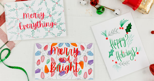 3 Holiday Greeting Cards - Craft Box Girls