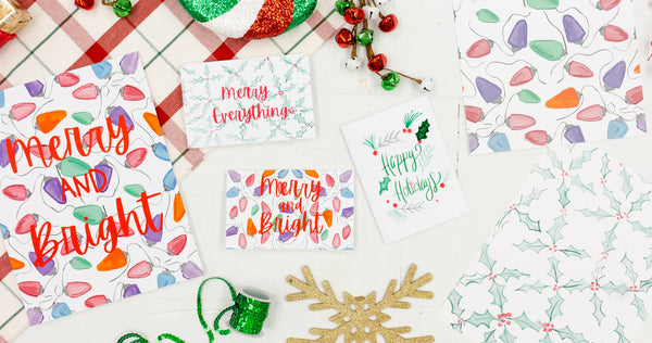 Happy Everything Holiday Art Prints and Greeting Cards - Craft Box Girls