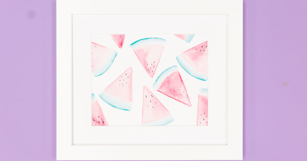 Watermelon Watercolor Art Print - Digital Download - Craft Box Girls