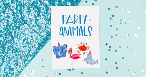 Party Animals Happy Art Print - Digital Download - Craft Box Girls