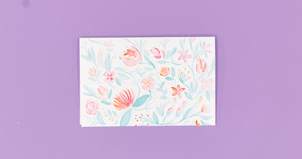 Watercolor Floral Greeting Card - Digital Download - Craft Box Girls