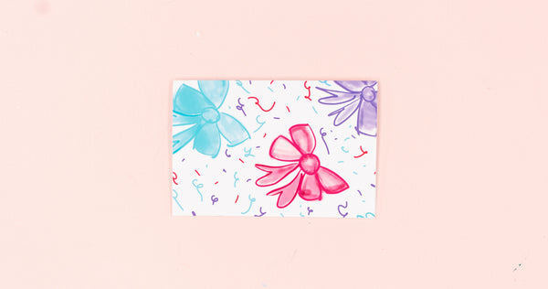 Big Bows Greeting Card - Digital Download - Craft Box Girls