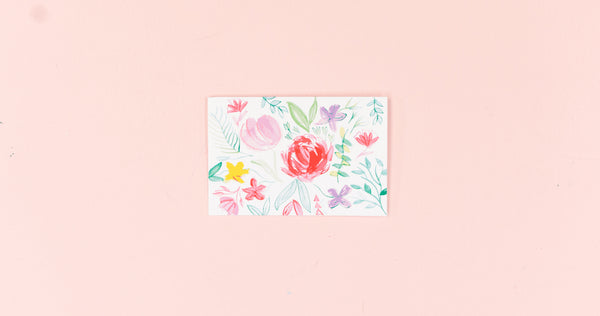 Bright Floral Greeting Card - Digital Download - Craft Box Girls