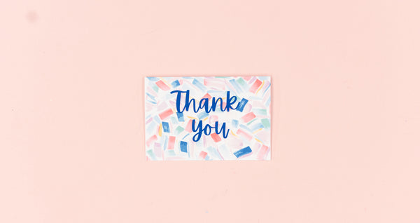 Brush Thank You Greeting Card - Digital Download - Craft Box Girls