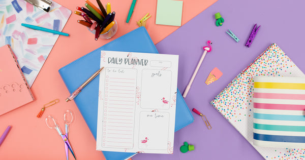 Flamingo Planner Sheet - Digital Download - Craft Box Girls