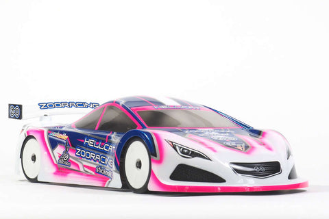 ZOORACING Hellcat 1/10 Touring Car Body Clear 190mm Standard - ZR-0006-07