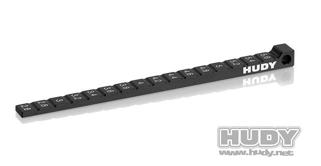 HUDY RIDE HEIGHT GAUGE STEPPED FOR 1/10 & 1/12 PAN CARS - 107718 - ActivRC
