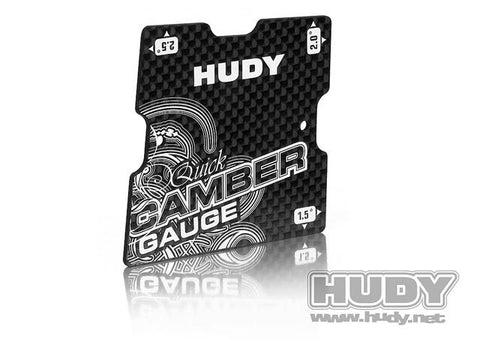 HUDY QUICK CAMBER GAUGE for 1/10 TOURING 1.5°, 2°, 2.5° - 107750 - ActivRC