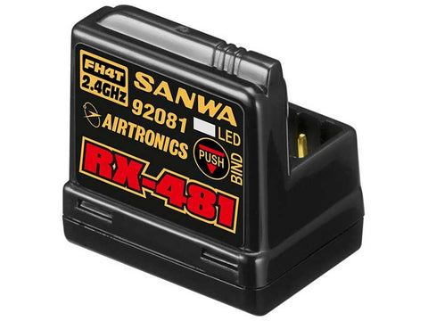 SANWA 4-channel RX481 Receiver w/ built-in Antenna - SNW107A41258A - ActivRC