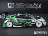 BITTYDESIGN M410 1/10 Touring Car Body (Clear) (190mm) (Light Weight) - BDYTC-190M410