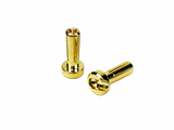 1UP RACING 4mm Low Pro Bullet Plugs (2) - 190401