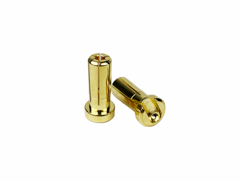 1UP RACING 5mm Low Pro Bullet Plugs (2) - 190402