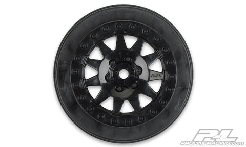 PRO-LINE F-11 Short Course Wheels w/+3mm Offset Black SC5M - 2739-03