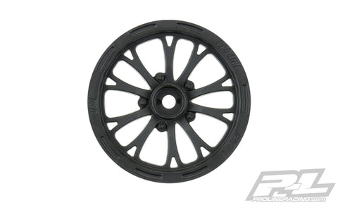 "PRO-LINE Pomona Drag Spec 2.2"" Black Front Wheels - 2775-03"