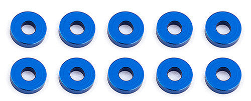 TEAM ASSOCIATED Bulkhead Washers, 7.8x2.0 mm, blue aluminum - 31386