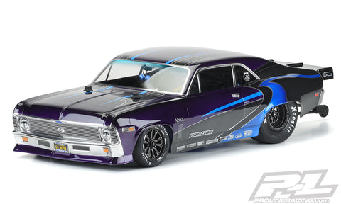PRO-LINE 1969 Chevrolet Nova No Prep Drag Racing Body (Clear) - 3531-00