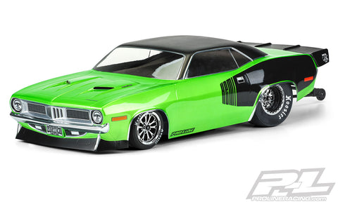 PRO-LINE 1972 Plymouth Barracuda No Prep Drag Racing Body (Clear) - 3550-00