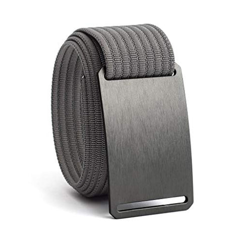 GRIP6 Classic Series Belt - Gunmetal Aluminum Buckle with Grey Strap - 34 Inch