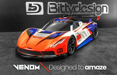 BITTYDESIGN Venom 1/10 GT Body (Clear) (190mm) - BDGT-190VNM (PRE-ORDER NOW!)