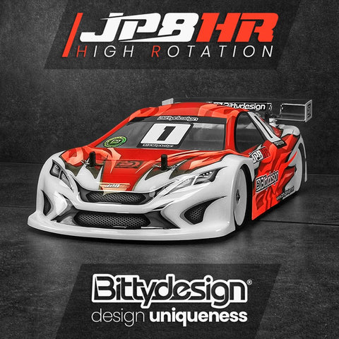 BITTYDESIGN JP8HR 1/10 Touring Car Body (Clear) (190mm) (Light Weight) - BDTC-190HR (PRE-ORDER NOW!)