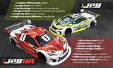 BITTYDESIGN JP8HR 1/10 Touring Car Body (Clear) (190mm) (Light Weight) - BDTC-190HR