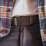 GRIP6 Classic Series Belt - Gunmetal Aluminum Buckle with Grey Strap - 36 Inch