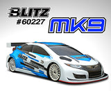 BLITZ MK9 1/10 190mm Hatchback Body Shell (0.7mm) - 60227-07