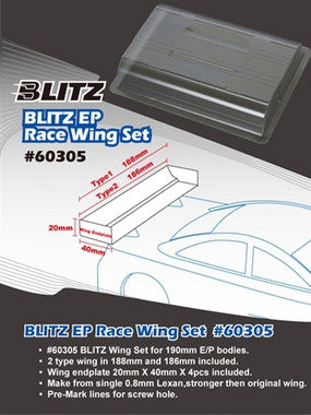 BLITZ WING SET FOR 190MM EP BODY - 60305 - ActivRC