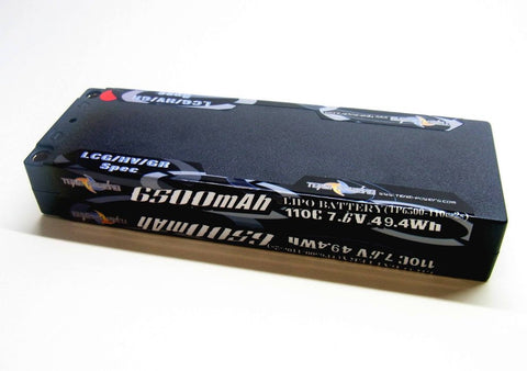 TEAM POWERS 6500mah 110C 2s 7.6V LCG/HV/Graphene Lipo Battery - TP6500-110c-2s