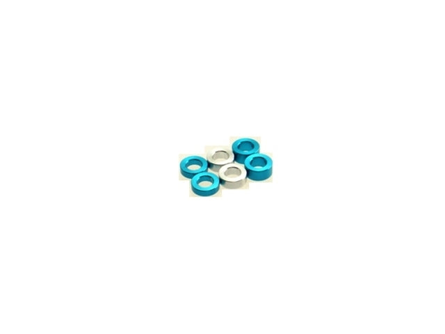 HIRO SEIKO 3mm Alloy Spacer Set (1.5t/2.0t/2.5t) (6 pcs) (Blue) - 69456