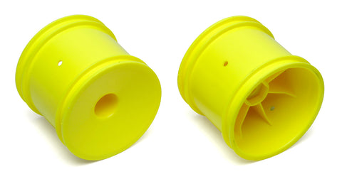 TEAM ASSOCIATED 12mm Hex Stadium Truck Dish Wheel Yellow - 7853