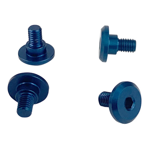 1UP RACING Servo Mounting Screws 4mm Thread (Blue) - 80211