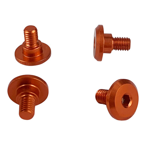 1UP RACING Servo Mounting Screws 4mm Thread (Orange) - 80251