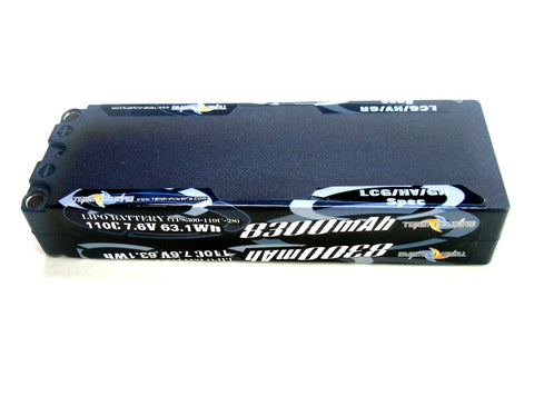 TEAM POWERS 8300mah 110C 2s 7.6V LCG/HV/Graphene Lipo Battery - TP8300-110c-2s