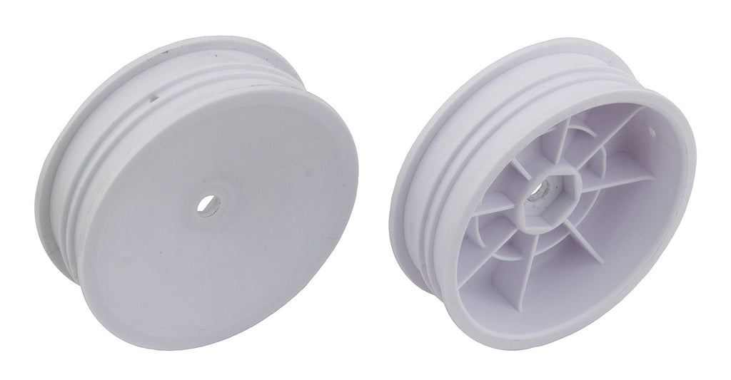 "TEAM ASSOCIATED 12mm Hex 2WD 2.2"" Slim Front Buggy Wheels B6 White - 91757"