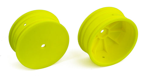 "TEAM ASSOCIATED 12mm Hex 4WD 2.2"" Front Buggy Wheels B64 Yellow - 92096"