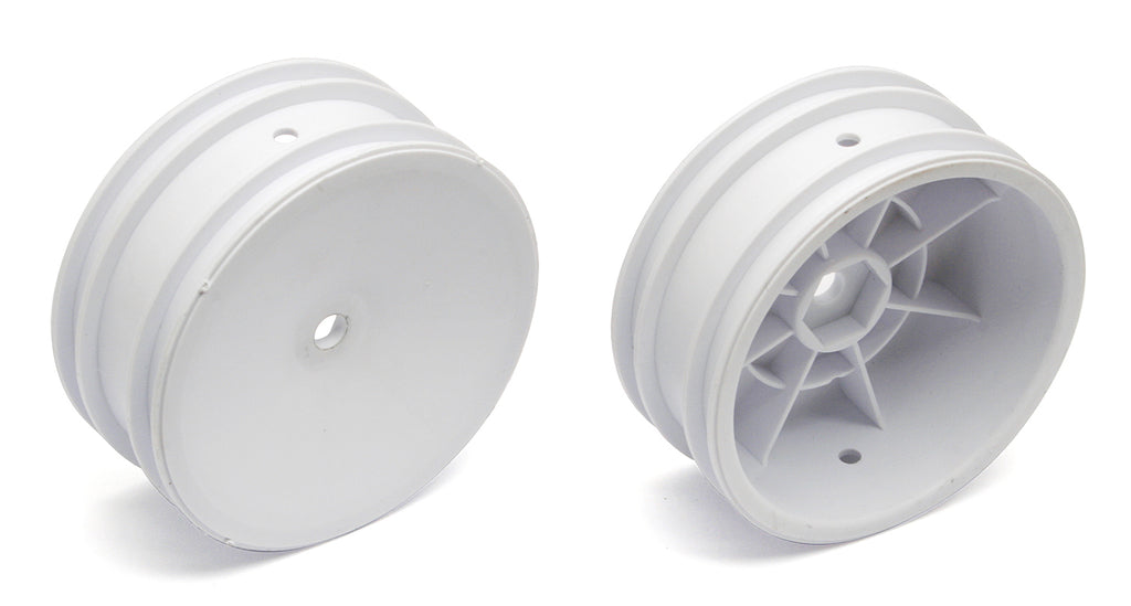 "TEAM ASSOCIATED 12mm Hex 2WD 2.2"" Front Buggy Wheels B6 White - 9690"