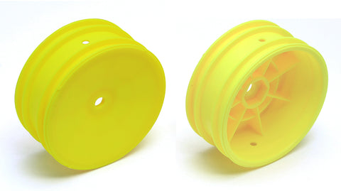 "TEAM ASSOCIATED 12mm Hex 2WD 2.2"" Front Buggy Wheels B6 Yellow - 9691"